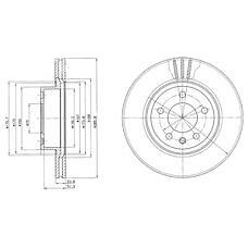 DELPHI BG2908 (569053 / 90487103 / 93182295) диск тормозной передний\ Opel (Опель) Omega (Омега) 2.0 94>