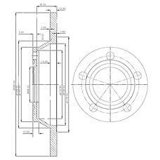 DELPHI BG2987 (8D0615301A / 8A0615301A / 230392) диск тормозной передний\ Audi (Ауди) a4 1.6 / 1.9tdi 95>