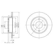 DELPHI BG3055 (1E0333251 / 1013581 / 1112542) тормозной диск 2шт в упаковке
