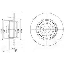 DELPHI BG3076 (60814646 / 82488240 / 71739570) диск тормозной задний\ Alfa romeo (Альфа ромео) 166, lancia kappa 2.0-3.0 94>