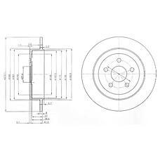 DELPHI BG3593 (4509553AC / 4509553AB / 4509553) Диск тормозной зад.