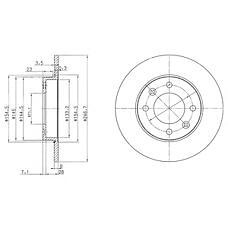 DELPHI BG3653 (4246W9 / 4246X8 / 424952) диск тормозной задний\ Citroen (Ситроен) xsara, Peugeot (Пежо) 307 1.4-2.0hdi 01>