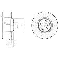 DELPHI BG3688 (7701206614 / 8200007122 / 230675) диск тормозной передний 16'' wheel\ Renault (Рено) Laguna (Лагуна) 1.6-2.0 / 1.9-2.2dci 01>