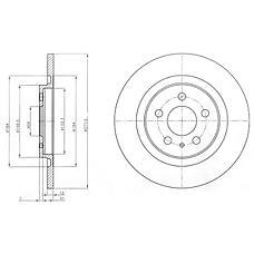 DELPHI BG3741 (4246P3 / 9464222687 / 4246P4) диск тормозной задний\ Citroen (Ситроен) c8, Peugeot (Пежо) 807 2.0-2.2hdi 02>