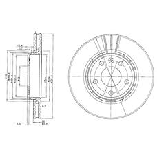 DELPHI BG3768 (91165426 / 8200010519 / 91159915) диск тормозной передний\ Renault (Рено) trafic, Opel (Опель) vivaro 2.0 / 1.9d / 2.5d 01>