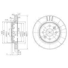 DELPHI BG3803 (0K2N133251 / 0K2N233251 / 5833044210) диск тормозной передний вентилируемый Kia (Киа) spectra 00- d=258мм.