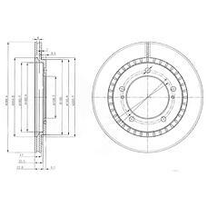 DELPHI BG3820 (5521165D01 / 5521165D10 / 5521165D02) диск тормозной передний\ Suzuki (Сузуки) grand Vitara (Витара) 1.6-2.7 98>