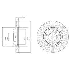DELPHI BG3835 (4246P7 / 4249L3 / 230794) диск тормозной передний\ Peugeot (Пежо) 407 1.8-2.0hdi 04>
