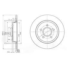 DELPHI BG3897 (30666802 / 1253962 / 30769113) тормозной диск 2шт в упаковке