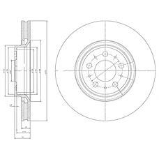 DELPHI BG4071 (9475266) диск тормозной fr Volvo (Вольво) s80