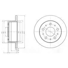 DELPHI BG4099 (51740248 / 51749275 / 424939) тормозной диск 2шт в упаковке