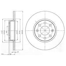 DELPHI BG4155 (51806099 / 55700398 / 55700918) диск тормозной 2шт в упаковке