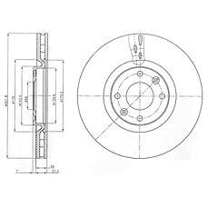 DELPHI BG4166 (424964 / 424980 / 424986) диск тормозной передний вентилируемый Peugeot (Пежо) 308 / 3008 / 5008 07- d=302мм. (цена за 1 шт., в упак. 2 шт.)