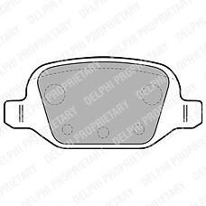 DELPHI LP1678 (77363445 / 9948417 / 77364024) колодки дисковые з.\ Fiat (Фиат) Punto (Пунто) 1.8i 16v 130 hgt 99> / doblo 1.2i / 1.9d / jtd 02>