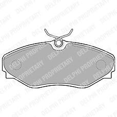 DELPHI LP1767 (91165426 / 6025371662 / 6025372662) колодки дисковые п.\ Opel (Опель) vivaro 02>, Renault (Рено) Espace (Эспейс) all 00-02