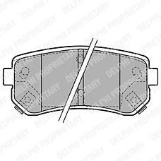 DELPHI LP1952 (583021GA00 / 583021HA00 / 583021HA10) колодки тормозные дисковые задние Hyundai (Хендай) accent, i20, i30, ix35 / Kia (Киа) ceed, rio, sportage