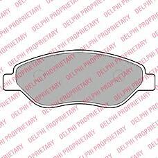 DELPHI LP2010 (1605355 / 93189822 / 93192895) колодки дисковые п.\ Opel (Опель) corsa1.6t / 1.7cdti 06>