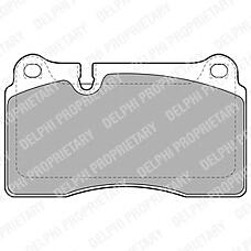 DELPHI LP2012 (7L6698151E / 7L0698151H / 7L6698151G) колодки дисковые п.\ VW touareg, Land rover (Ленд ровер) range rover 3.2-4.2 / 3.0tdi 05>