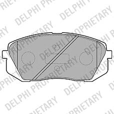 DELPHI LP2050 (581011DE00 / 581012SA70 / 581010ZA00) колодки тормозные передние Hyundai (Хендай) ix35 10- / Kia (Киа) Sportage (Спортедж) 10- / Carens (Каренс) 02-