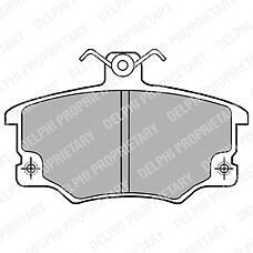 DELPHI LP459 (793323 / 5892549 / 5892735) Колодки тормозные пер. FIAT punto