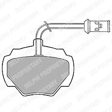 DELPHI LP475 (STC8570 / RTC4519 / SFP000270) колодки дисковые задние \ Land rover (Ленд ровер) Discovery (Дискавери) 89-98 / Ranger (Ренжер) 85-94