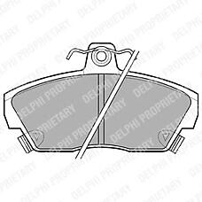 DELPHI LP618 (SFP000390 / GBP90314 / GBP90328) колодки тормозные дисковые, комплект