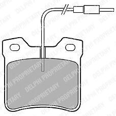 DELPHI LP667 (425326 / 425130 / 0034200020) колодки дисковые з.\ Peugeot (Пежо) 406 2.0 / 2.2 / 1.9td / 2.0hd / 2.1td 95>