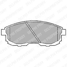 DELPHI LP812 (4106040U90 / 4106089E90 / D10601KA1A) колодки тормозные дисковые передние Nissan (Ниссан) juke / Maxima (Максима) / teana / tIIda / Suzuki (Сузуки) sx4