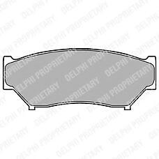 DELPHI LP967 (5520065D00 / 5520056831 / 5520056870) колодки тормозные дисковые, комплект