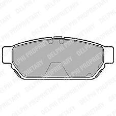 DELPHI LP968 (MR205377 / MB928314 / MR389569) колодки тормозные дисковые, комплект