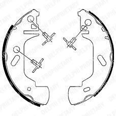 DELPHI LS1701 (7125123 / 7701205290 / 1014317) Колодки тормозные зад.