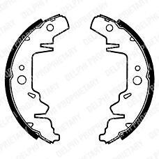 DELPHI LS1814 (0K5522638Z / 4883833AA / 4882059) колодки тормозные задние барабанные комплект