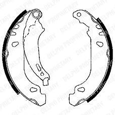 DELPHI LS1848 (4241K5 / 4241N1 / 42418L) колодки тормозные задние барабанные комплект