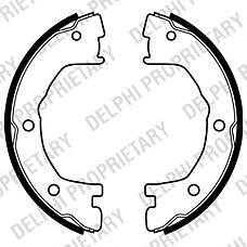DELPHI LS1919 (1906403 / 2992568 / 5001844749) колодки тормозные задние барабанные комплект