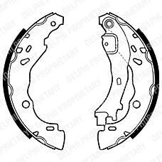 DELPHI LS1975 (4241L7 / 4241L0 / 77362365) колодки барабанные\ Citroen (Ситроен) c3, Peugeot (Пежо) 1007 1.1-1.4i / 1.4-1.6hdi 03>
