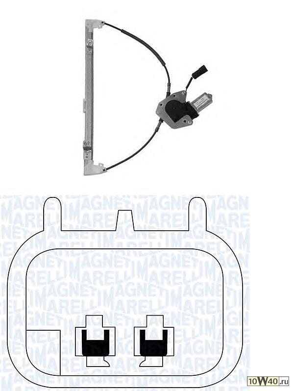стеклоподъемник электр пер. л.\ renault megane 96> 4doors