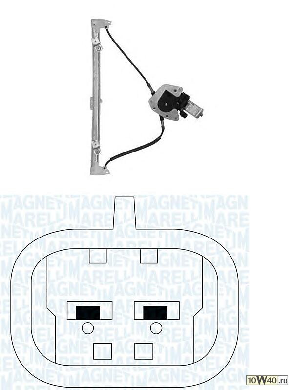 стеклоподъемник электр пер. л.\ renault clio 98-05 4doors