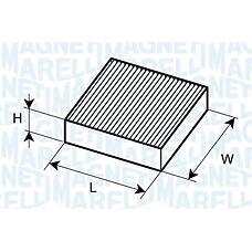 MAGNETI MARELLI 350203062180 (6447YC / 77364063 / 6447YA) фильтр воздух во внутренном пространстве