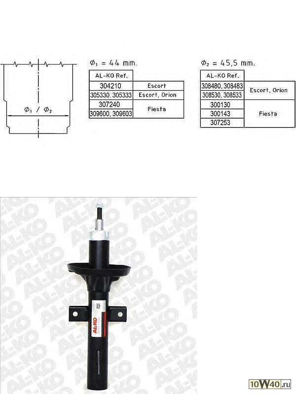 амортизатор передний масляный\ ford escort / orion 1.4-1.8td 90-95