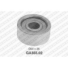 SNR GA355.02 (7701044676 / 9161255 / 4500955) ролик обводной\ Renault (Рено) master, Opel (Опель) movano 2.5d / 2.8dti 98>