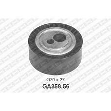 SNR GA358.56 (575129 / 9618888580 / 95577787) ролик обводной ремня генератора\ Citroen (Ситроен) xantia, Peugeot (Пежо) 206-807 1.8d-2.1td 91>