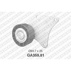 SNR GA359.81 (575137 / 96234016) ролик обводной с кондиционером, ген.120ah\ Peugeot (Пежо) 1.8 16v 97>