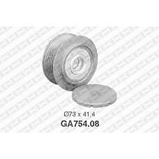 SNR GA754.08 (074903119E / 021903119H / 021903119K) шкив генератора\ bosch VW lt28-46 2.8tdi 02> / t4 2.5tdi 01>