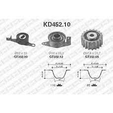 SNR KD452.10 (1005822 / 1099553 / 1099552) рем.к-кт грм\ Ford (Форд) Escort (Эскорт) / Fiesta (Фиеста) / Mondeo (Мондео) 1.8d / td 95-96