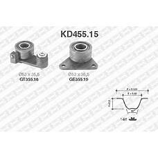 SNR KD455.15 (8630590 / 7438630590 / 9135036) рем.к-кт грм\ Renault (Рено) laguna, Volvo (Вольво) 850 2.0-2.5 94>