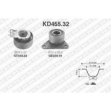 SNR KD455.32 (8630590 / 7438630590 / 30638277) рем.к-кт грм\ Renault (Рено) laguna, Volvo (Вольво) s40 / s70 1.9-2.5 96>