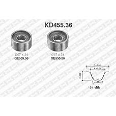 SNR KD455.36 (7701040204 / 081832 / 99461357) рем.к-кт грм\ Fiat (Фиат) ducato, Renault (Рено) master 2.8dti <02