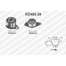 SNR KD455.39 (7700726440 / 3343741 / 8200045735) рем.к-кт грм\ Renault (Рено) Laguna (Лагуна) / Megane (Меган) 1.9dti 97>