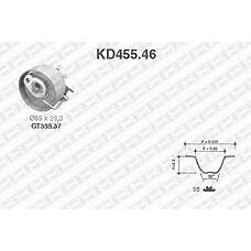SNR KD455.46 (7701476745 / 7701473001 / 130705295R) рем.к-кт грм\ Renault (Рено) Clio (Клио) / Kangoo (Кангу) 1.2 16v d4f 01>