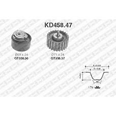 SNR KD458.47 (504183759 / 500388688 / 504010846) рем.к-кт грм\ iveco daily, Fiat (Фиат) Ducato (Дукато) 2.3jtd 02>